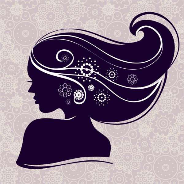 髪がたなびく女性のシルエット trends fashion profile hair woman