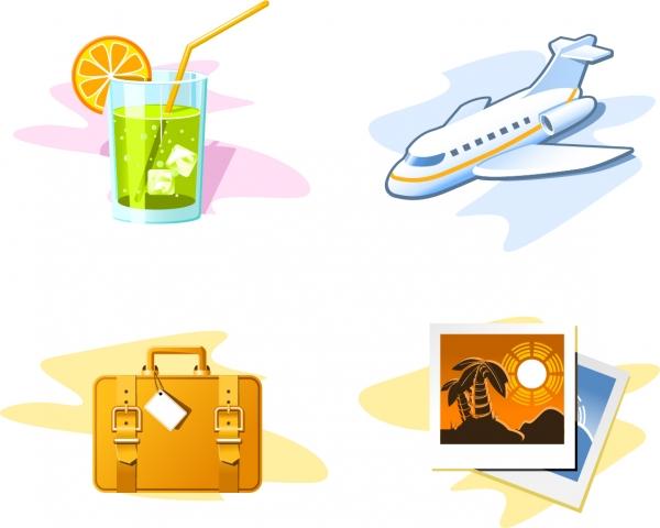 旅行をテーマにしたアイコン travel theme icon1