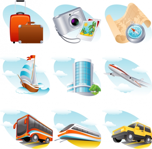 旅行をテーマにしたアイコン travel theme icon2