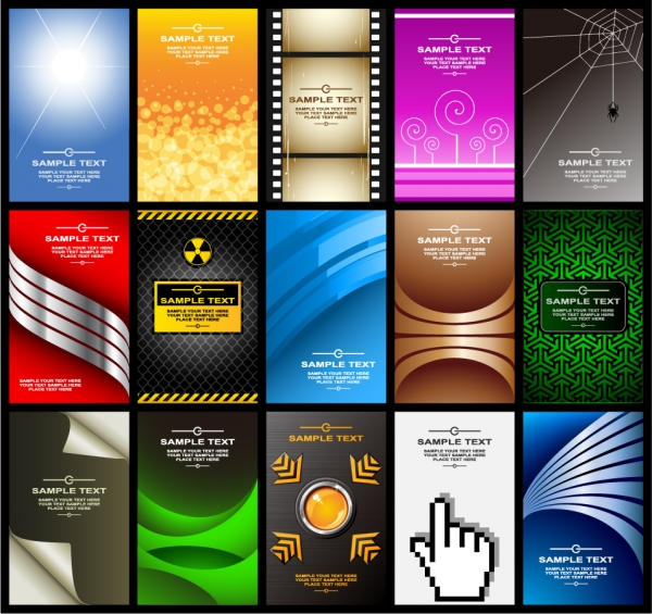 バラエティあふれるカード背景 variety of card background vector