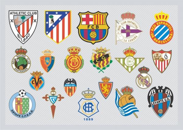 スペイン サッカーチーム エンブレム Spanish Football Team Logos
