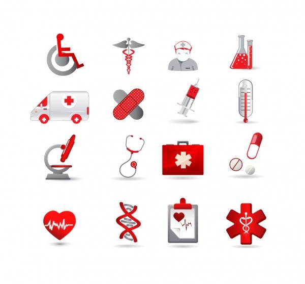医療関連のアイコン集 Health Care Icon Set