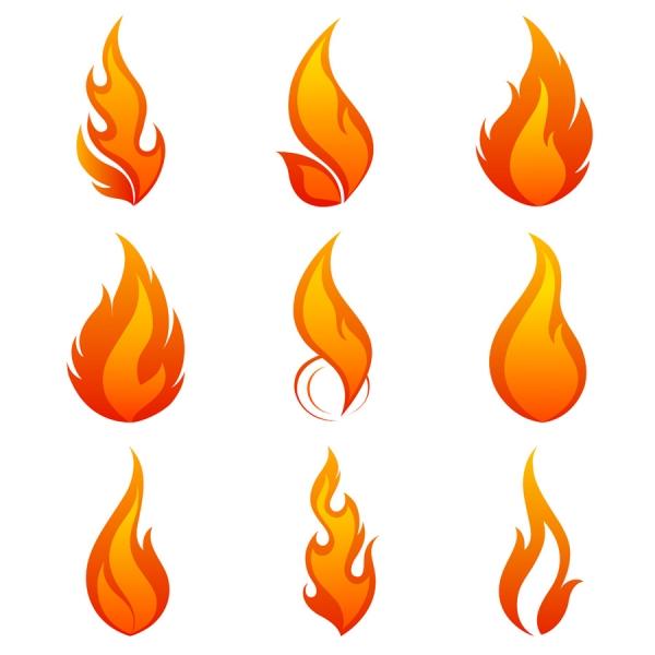 燃え上がる炎のアイコン flame icon