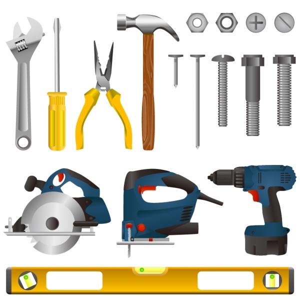 工具のクリップアート tools vector