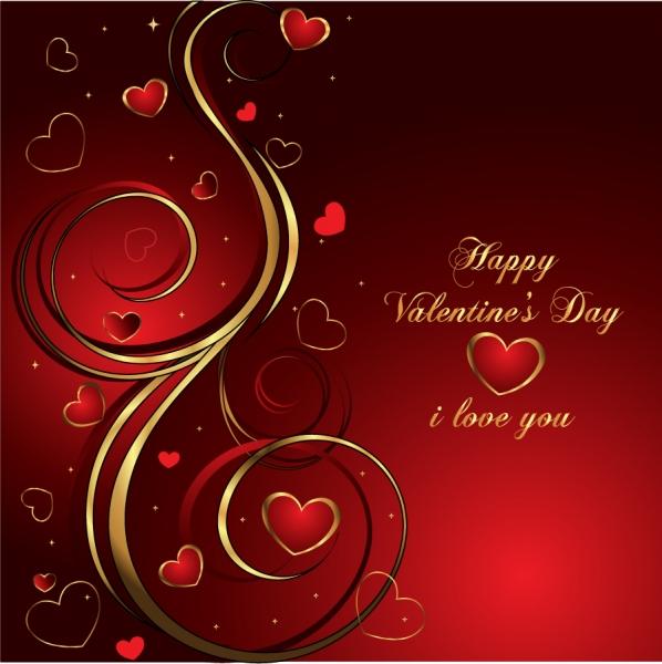 バレンタインデー お洒落なハート型の背景 Heart Valentine's Day Vector