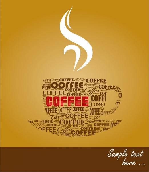 珈琲ショップの看板デザイン coffee signs heat pattern 3