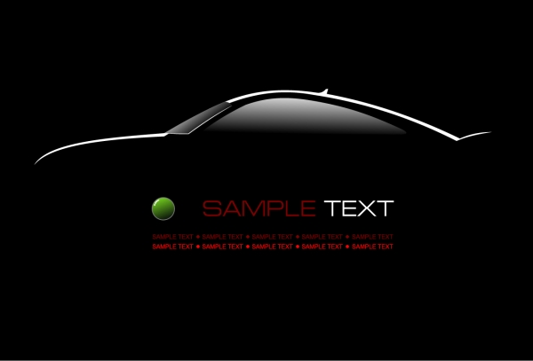 コンセプト カーのシルエット Concept cars in the vector