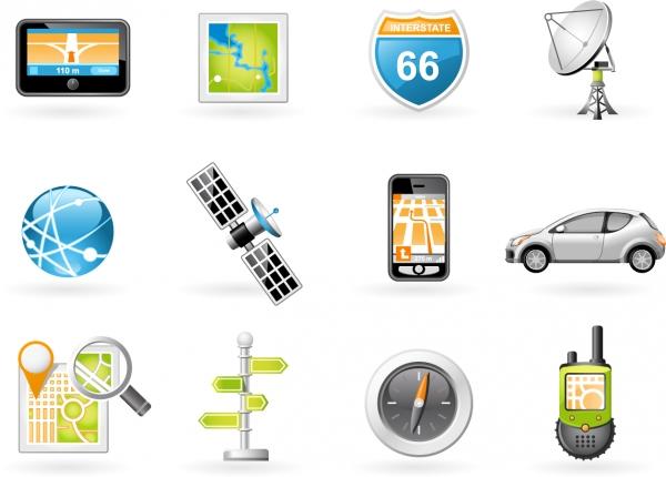 ナビゲーション関連のアイコン Navigation and Transport Icons