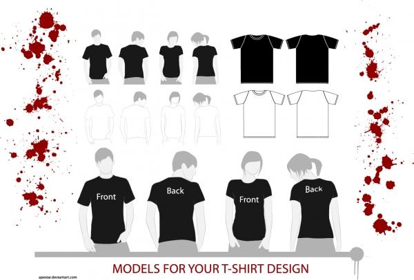 Tシャツのデザイン テンプレート Tshirt clothes template