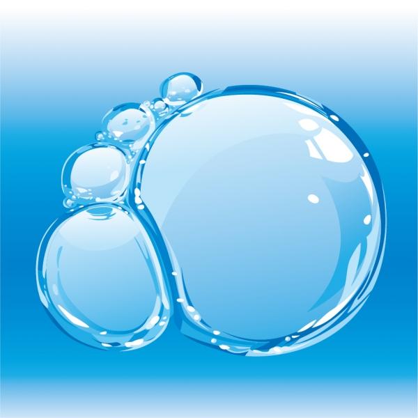 リアルに泡立つ水の背景 Bubbles blisters water theme3