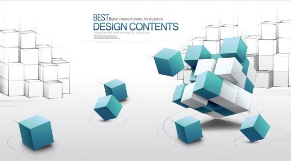立方体を積み上げたビジネス用背景 3d fashion design business concept background