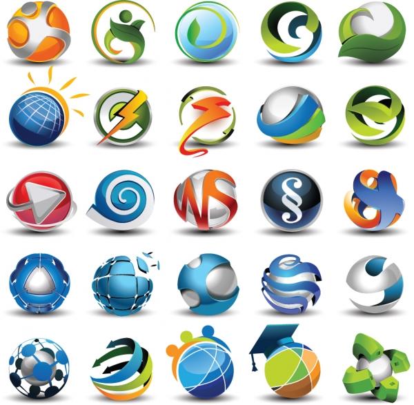 美しい球型アイコン見本 beautifully circular icon