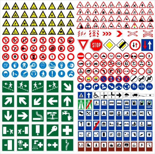 道路交通標識のデザイン見本 road traffic signs vector