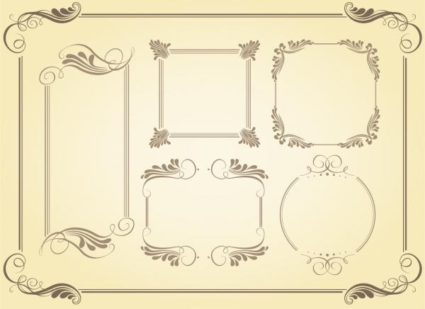 シンプルなフレーム simple frame vector