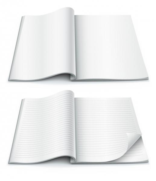 デザイン用 白紙のノート テンプレート fine blank notebook vector1