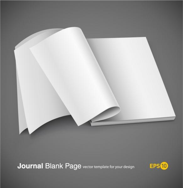デザイン用 白紙のノート テンプレート fine blank notebook vector4