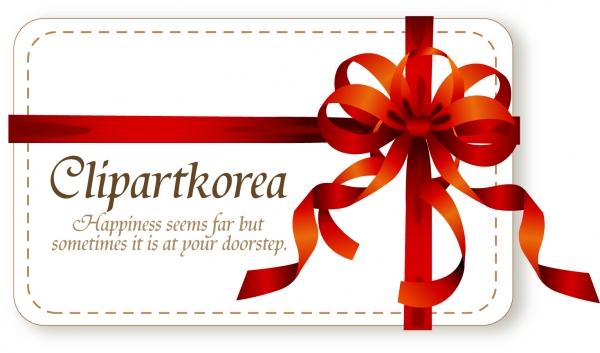 蝶結びのリボン飾りカード bow ribbon card vector3