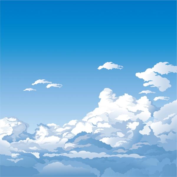 雲が美しい空の背景 beautiful sky theme vector4