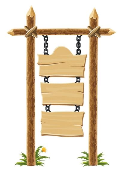 木製掲示板のクリップアート wooden bulletin board lights2