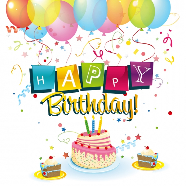 誕生日カードの背景 birthday candles clip art
