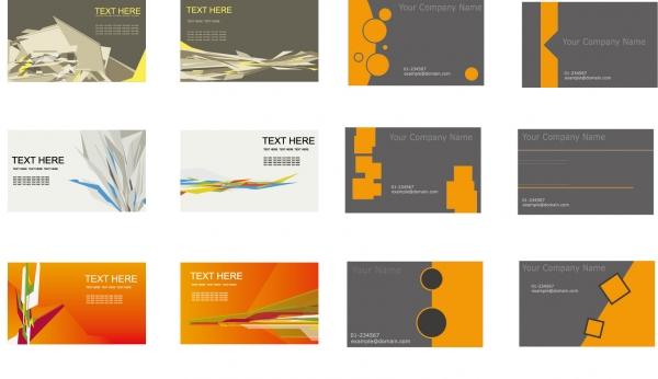名刺の背景デザイン見本 Set of Business Cards Vector