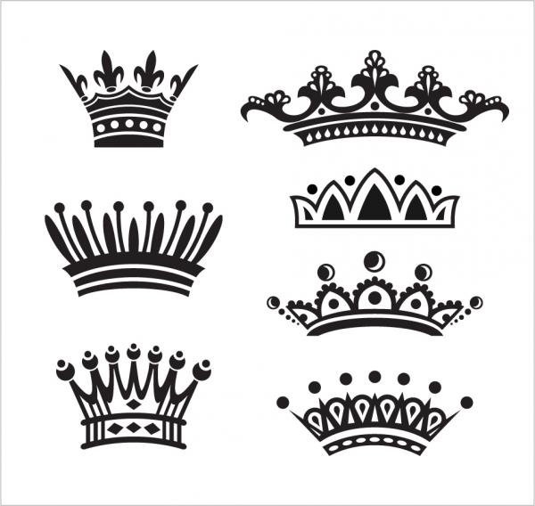 王冠のシルエット デザイン european crown vector