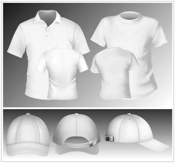 洋服デザイン用白地のテンプレート blank display T-shirts clothes2
