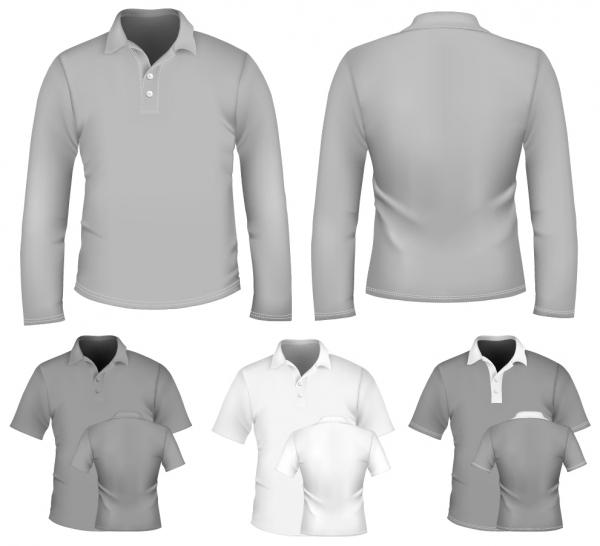 洋服デザイン用白地のテンプレート blank display T-shirts clothes3