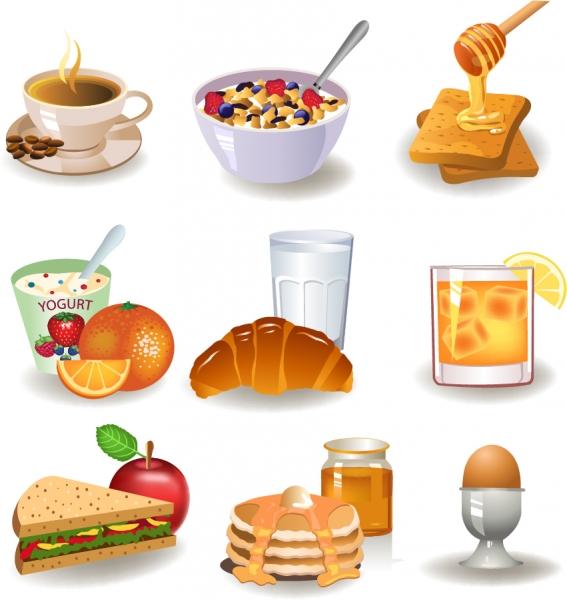 ファーストフードのクリップアート fastfood breakfast vector1