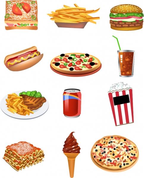 ファーストフードのクリップアート fastfood breakfast vector2