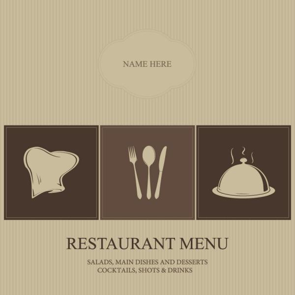 レストラン メニュー 表紙デザイン restaurant menu cover vector1