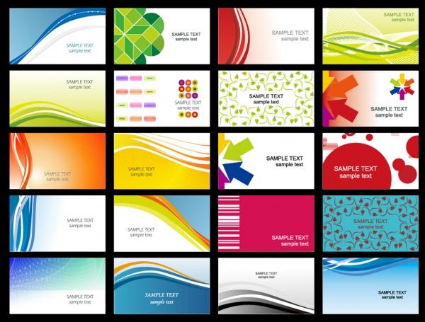 美しい曲線を背景にしたカード テンプレート dynamic flow line of business card templates