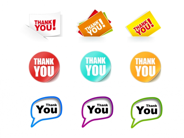 サンキュー ステッカー Thank You Stickers Vector Collection