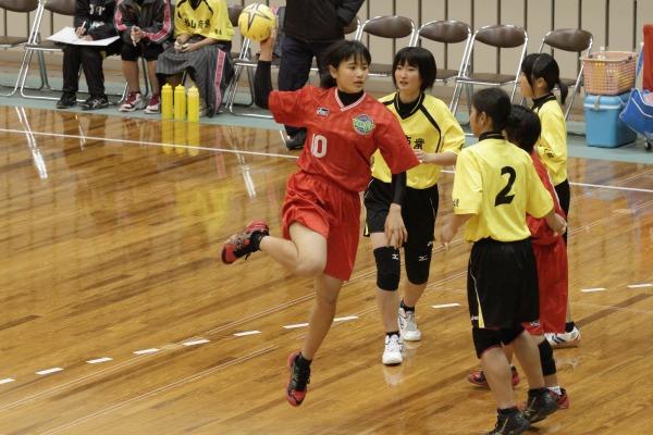 高校ハンド一年生大会女子決勝今西-松商 140216 02
