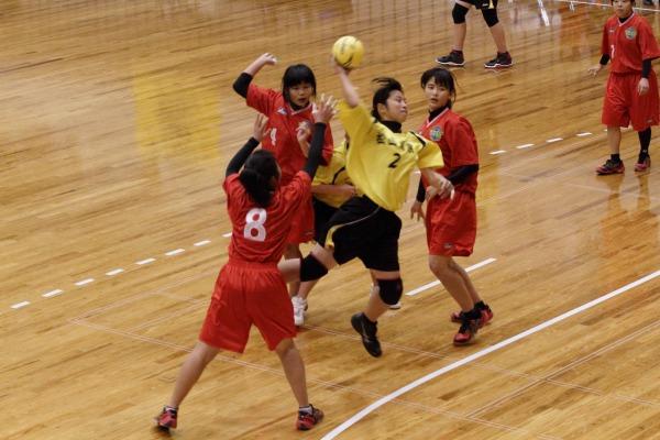 高校ハンド一年生大会女子決勝今西-松商 140216 06