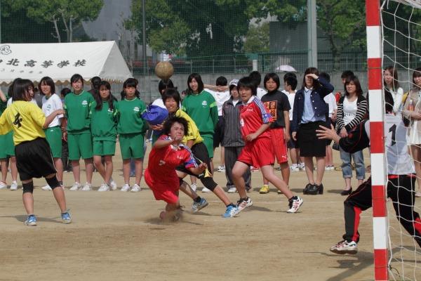 愛媛県高校ハンド中予地区予選女子松商-松北 140426 01