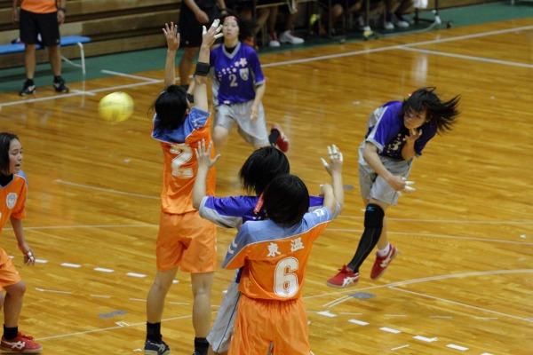 愛媛県高校総体ハント ゙女子1回戦 今北-東温 140531 01
