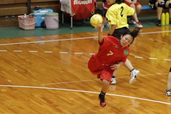 愛媛県高校総体ハント ゙女子1回戦 松商-今西 140531 02