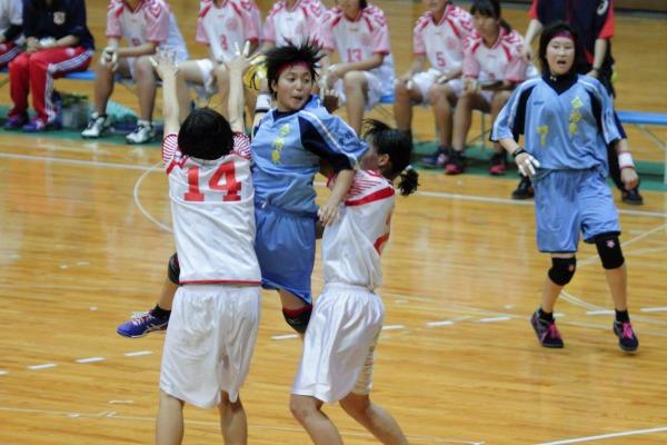 愛媛県高校総体ハント ゙女子決勝 今東-松東 1406021 09