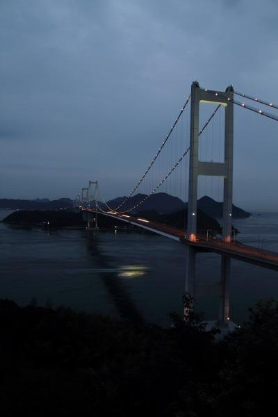 来島海峡大橋ライトアップ 140712 02