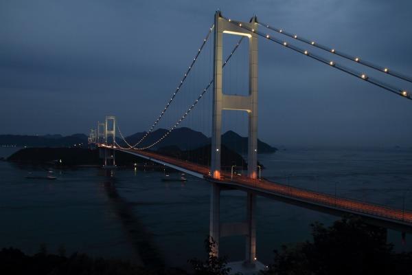 来島海峡大橋ライトアップ 140712 03