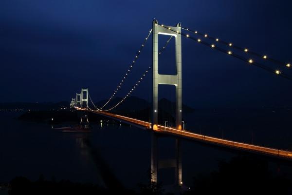 来島海峡大橋ライトアップ 140712 04