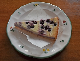 8月17日ブルーベリーチーズケーキ