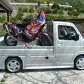 軽トラ オートバイ