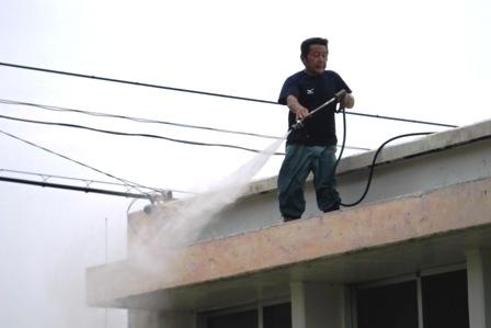 屋根ジェット洗浄