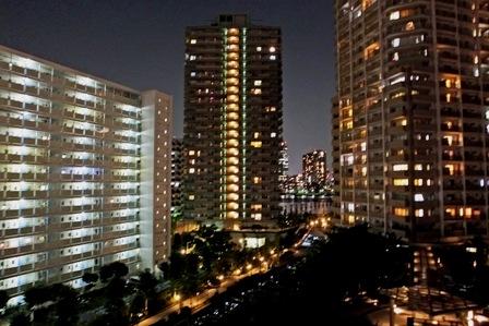 マンション街夜景