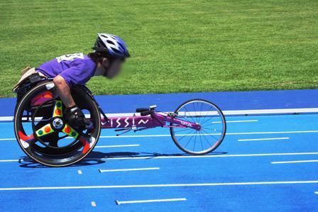 車椅子レーサー