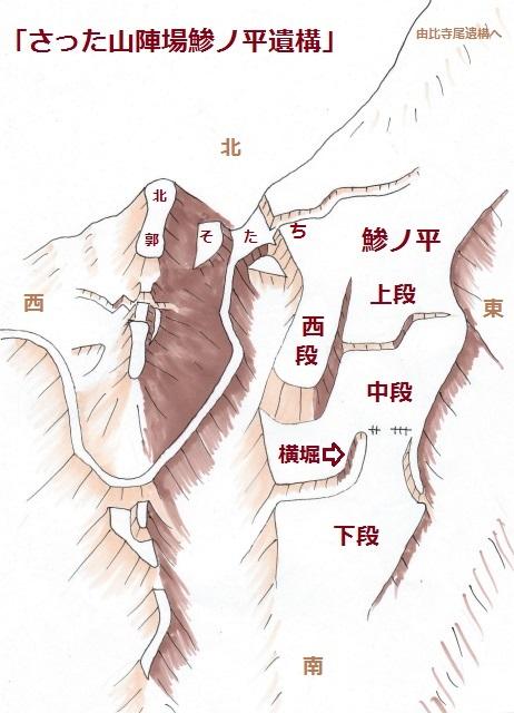 さった山陣場鯵ノ平遺構