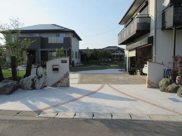 小見川M邸門柱