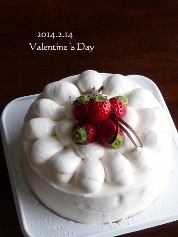 苺のデコレーションケーキ♪
